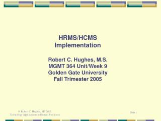 HRM Information Systems  Implementation