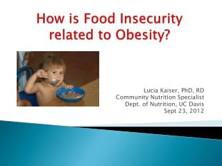 How is Food Insecurity related to Obesity?