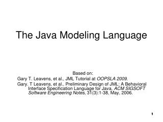 The Java Modeling Language