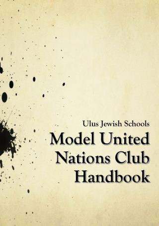Model United Nations Club Handbook