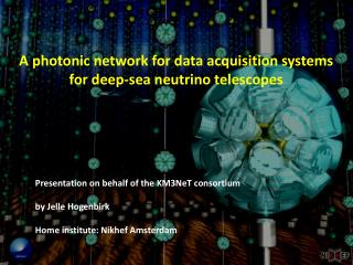 A photonic network for data acquisition systems  for deep-sea neutrino telescopes