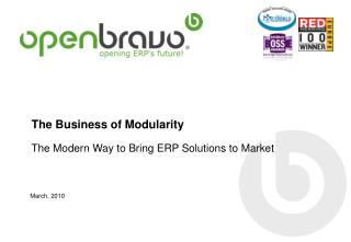 The Business of Modularity T h e Modern Way to Bring ERP S o lutions to Market