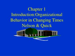 Chapter 1 Introduction:Organizational Behavior in Changing Times Nelson & Quick