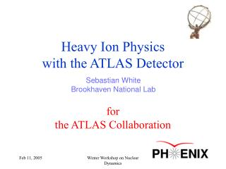 Heavy Ion Physics  with the ATLAS Detector for the  ATLAS Collaboration
