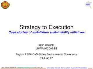 Strategy to Execution  Case studies of installation sustainability initiatives