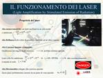 IL FUNZIONAMENTO DEI LASER Light Amplification by Stimulated Emission of Radiation