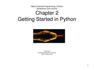 Object-Oriented Programming in Python Goldwasser and Letscher Chapter 2 Getting Started in Python