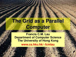 The Grid as a Parallel Computer