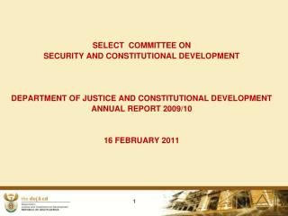 SELECT  COMMITTEE ON  SECURITY AND CONSTITUTIONAL DEVELOPMENT