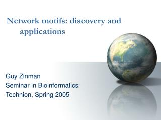 Network motifs: discovery and applications