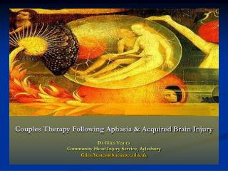 Couples Therapy Following Aphasia & Acquired Brain Injury