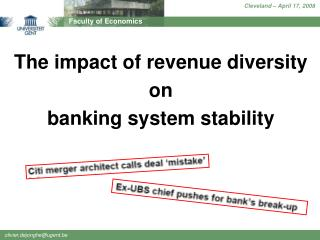 The impact of revenue diversity  on  banking system stability
