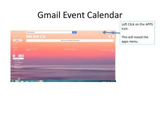Gmail Event Calendar