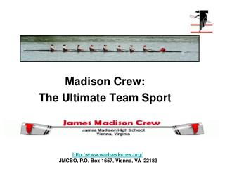 Madison Crew: The Ultimate Team Sport