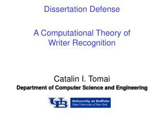 A Computational Theory of  Writer Recognition