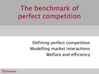 The benchmark of perfect competition