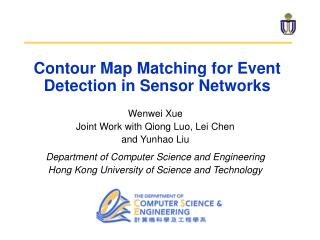 Contour Map Matching for Event Detection in Sensor Networks