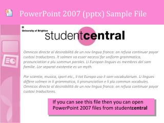 PowerPoint 2007 ( pptx ) Sample File