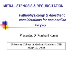 Presenter: Dr Prashant Kumar