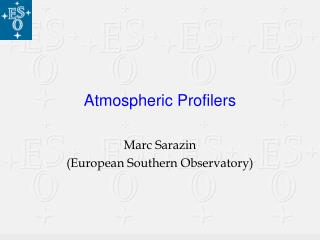Atmospheric Profilers