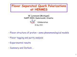 Flavor Separated Quark Polarizations at HERMES
