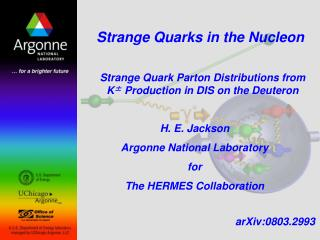 Strange Quarks in the Nucleon
