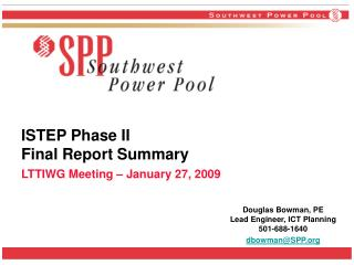 ISTEP Phase II Final Report Summary