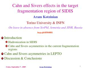 Cahn and Sivers effects in the target fragmentation region of SIDIS