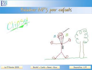 Baladeur MP3 pour enfants