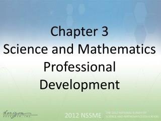 Chapter  3 Science and Mathematics Professional Development