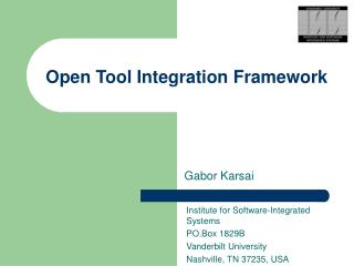 Open Tool Integration Framework