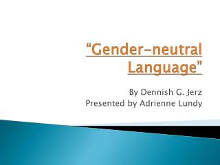 Gender-neutral Language