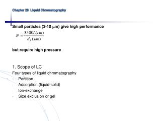 Chapter 28  Liquid Chromatography