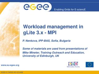 Workload management in gLite 3.x - MPI