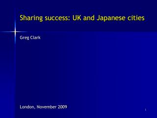 Sharing success: UK and Japanese cities
