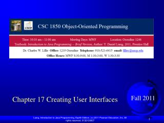 Chapter 17 Creating User Interfaces
