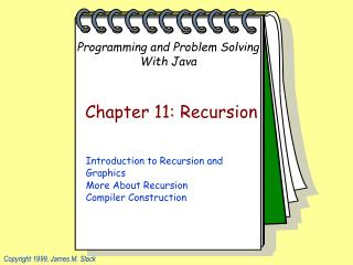 Chapter 11: Recursion