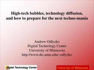 High-tech bubbles, technology diffusion, and how to prepare for the next techno-mania