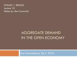 Aggregate demand in the open economy
