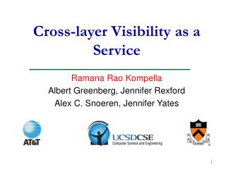 Cross-layer Visibility as a Service