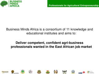 Business Minds Africa is a consortium of 11 knowledge and educational institutes and aims to: