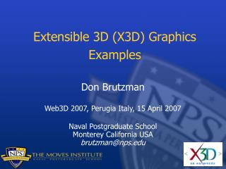 Extensible 3D (X3D) Graphics Examples