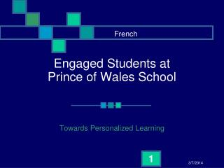 Engaged Students at  Prince of Wales School