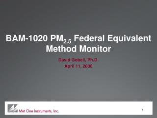 BAM-1020 PM 2.5  Federal Equivalent Method Monitor
