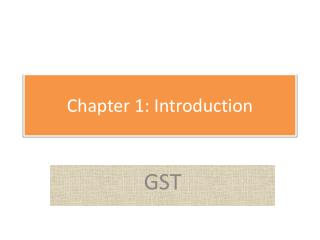 Chapter 1: Introduction
