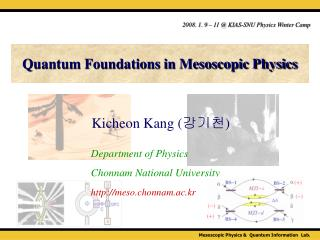 Quantum Foundations in Mesoscopic Physics