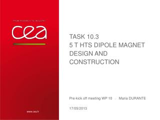 Task  10.3 5 T HTS  Dipole Magnet  Design and Construction