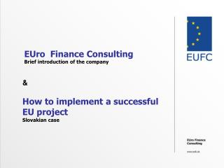 EUro  Finance Consulting Brief introduction of the company