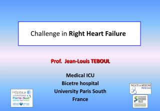 Prof.  Jean-Louis TEBOUL Medical ICU Bicetre hospital University Paris South France