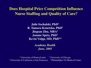 Does Hospital Price Competition Influence Nurse Staffing and Quality of Care?
